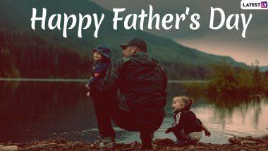 Happy Father's Day 2020 Wishes & Images: अपने पिता से कहें हैप्पी फादर्स डे, इन खूबसूरत WhatsApp Stickers, Facebook Greetings, Messages, HD Photos, Wallpapers, Quotes के जरिए जताएं प्यार