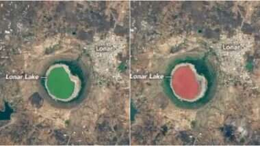 Lonar Lake: महाराष्ट्र की 50 हजार साल पुरानी लोनार झील का पानी रहस्यमय तरीके से हुआ गुलाबी, NASA द्वारा ली गई तस्वीरों को देख आप भी हो जाएंगे दंग