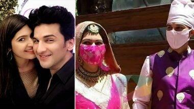 टीवी एक्टर मनीष रायसिंह ने कोस्टार संगीता चौहान के साथ रचाई शादी, मास्क पहन गुरुद्वारे में पहुंचा जोड़ा