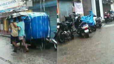 Mumbai Rains: चक्रवात निसर्ग का खतरा टला, लेकिन मुंबई के कई हिस्सों में हो रही है तूफानी बारिश; देखें तस्वीरें