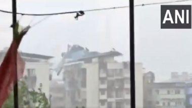 Cyclone Nisarga: रायगढ़ में दिखा चक्रवात निसर्ग का तांडव, तेज हवा से बिल्डिंग के छत की टीन उड़ी
