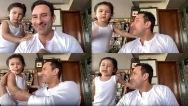 सैफ अली खान के लाइव इंटरव्यू मेंदोबारा दिखे बेटे तैमूर अली खान, Cute Video हुआ Viral