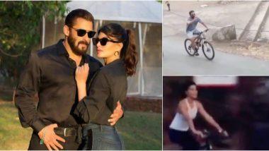पनवेल में साइकिलिंग का मजा लेते हुए दिखाई दिए सलमान खान और जैकलीन फर्नाडिज, सोशल मीडिया पर वीडियो हुआ वायरल