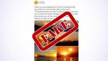 Fact Check: साल 2020 के पहले सूर्य ग्रहण के दौरान यूएस-कनाडा बॉर्डर पर आसमान में दिखे दो सूरज, जानें इस वायरल खबर की सच्चाई