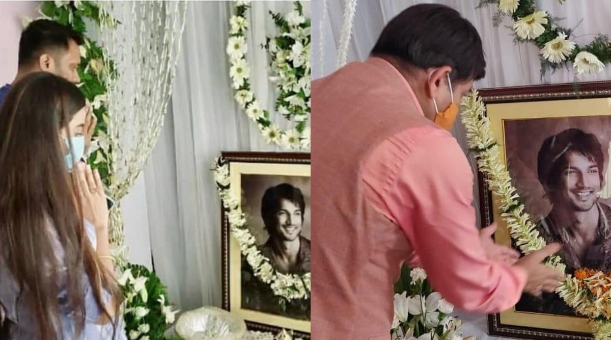 सुशांत सिंह राजपूत के प्रेयर मीट में पहुंचे मनोज तिवारी और अक्षरा सिंह, देखिए तस्वीरें