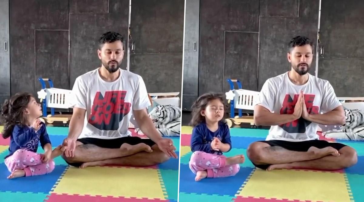 World Yoga Day 2020:कुणाल खेमू ने बेटी इनाया नौमी खेमू को सिखाया योग करने का सही तरीका, देखें ये Cute Video