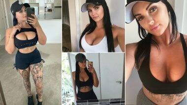 XXX Star Renee Gracie Sexy Photos: स्पोर्ट्स ब्रा पहन अपने Cleavage को फ्लॉन्ट करने का हुनर पोर्न स्टार रेनी ग्रेसी को बखूबी आता है, देखिए उनकी 5 Most Stylist फोटोज