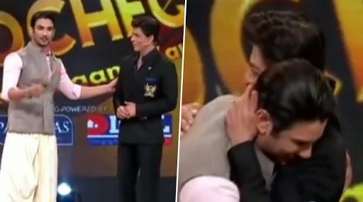 सुशांत सिंह राजपूत और शाहरुख खान का थ्रोबैक वीडियो हो रहा हैं वायरल, किंग खान ने गले लगाकर बरसाया था प्यार