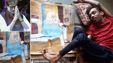 अमिताभ बच्चन के दिव्यांग प्रशंसक ने पैरों से बनाई उनकी पेंटिंग, बिग बी ने किया शेयर