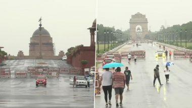 दिल्ली-NCR में गरज के साथ हुई भारी बारिश, लोगों को उमस भरी गर्मी से मिली राहत