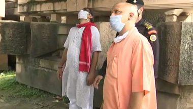 मुख्यमंत्री योगी आदित्यनाथ पहुंचे अयोध्या, राम मंदिर के भूमि पूजन की तैयारियों का लिया जायजा