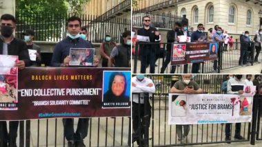 पाकिस्तानी सेना के खिलाफ यूनाइटेड किंगडम में बलूच कार्यकर्ताओं ने किया प्रदर्शन