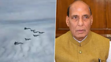 Rafale Fighter Jets Land in India: रक्षा मंत्री राजनाथ सिंह ने कहा- सेना के इतिहास में एक नए युग की शुरुआत, देखें वीडियो