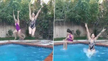 हॉट एक्ट्रेस सनी लियोन ने स्विमिंग पूल में सहेली संग की जमकर मस्ती, फैंस के साथ शेयर किया ये वीडियो