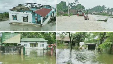 Assam Floods: असम में बाढ़ से मचा कोहराम! घर टूटे, सड़के डूबीं, जानवर भी हुए बेबस, चारो तरफ सिर्फ पानी ही पानी
