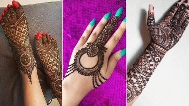 Hariyali Teej 2020 Mehndi Designs: हरियाली तीज के दिन हथेली पर मेहंदी रचाना है शुभता का प्रतीक, देखें सावन के इस पर्व को खास बनाने के लिए लेटेस्ट व आकर्षक डिजाइन्स