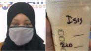 मुस्लिम महिला ने अपने कप पर ISIS लिखे जाने पर Starbucks के खिलाफ किया केस, लगाया भेदभाव का आरोप