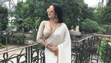 Monalisa Hot Photo: मोनालिसा ने सफेद साड़ी संग पहना चश्मा, अंदाज देख फैंस हुए दीवाने