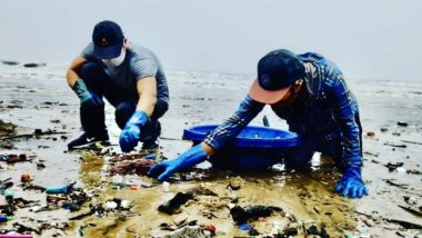 रणदीप हुड्डा कोरोना वायरस के बीच पहुंचे वर्सोवा बीच, सफाई में की मदद