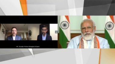 पीएम मोदी से बातचीत के बाद सुंदर पिचाई ने की घोषणा, गूगल भारत में अगले 5 से 7 वर्षों में 75,000 करोड़ रुपये का करेगा निवेश