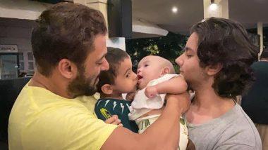 सलमान खान ने अपने भतीजे आहिल शर्मा और भतीजी आयत के साथ पोस्ट की ये प्यारी फोटो
