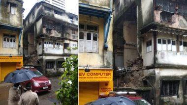मुंबई के ग्रांड रोड इलाके में बिल्डिंग का हिस्सा गिरा, 2  लोग जख्मी, राहत बचाव कार्य जारी