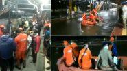 Mumbai Rains: मुंबई में तेज हवा और भारी बारिश से बढ़ी लोगों की आफत, रेलवे ट्रैक पर पानी भरने से फंसे सैकड़ो लोग, NDRF रेस्क्यू करने में जुटी