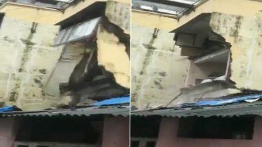 Mumbai Rains: मुंबई में तेज बारिश, दादर इलाके में गिरा मकान हिस्सा, देखें VIDEO