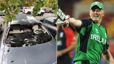 Kevin O'Brien ने लगाया ऐसा छक्का,  टूट गया उनके कार का शीशा, देखें तस्वीर