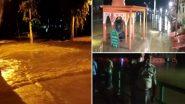 Uttar Pradesh: चित्रकूट में भारी बारिश से मंदाकिनी नदी का जलस्तर बढ़ा, घाट के किनारे की कई दुकानें नदी में समाई