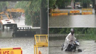 Delhi Rains Updates: राजधानी दिल्ली में तेज बारिश के कारण कई इलाकों में भरा पानी, कई जगह ट्रैफिक जाम