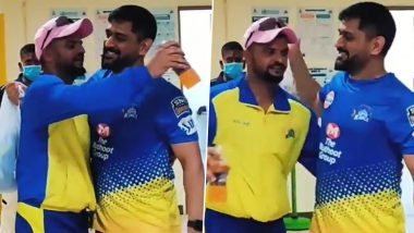 CSK ने MS Dhoni और Suresh Raina का इमोशनल वीडियो किया शेयर, एक दूसरे को गले लगाते हुए नजर आए दोनों खिलाड़ी