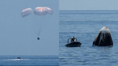 NASA के अंतरिक्षयात्री 45 साल में पहली बार समुद्र में हुए लैंड, एक दिन से कम समय में अतंरिक्ष केंद्र से धरती की दुरी की तय