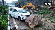 Landslide at Western Express Highway Video: मुंबई में भारी बारिश से भूस्खलन, वेस्टर्न एक्सप्रेस हाईवे पर आया कई टन मलबा