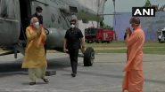 Ram Mandir Bhumi Pujan: भूमिपूजन के लिए प्रधानमंत्री मोदी अयोध्या पहुंचे, मुख्यमंत्री योगी आदित्यनाथ ने किया स्वागत