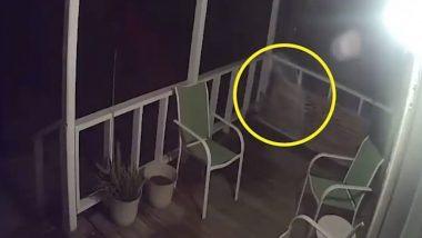 Daughter Spots 'Father's Ghost: बेटी को दिखी अपने पिता की आत्मा, कुर्सी के पास जाते भूत की तस्वीर हुई कैमरे में कैद (Watch Spooky Video)