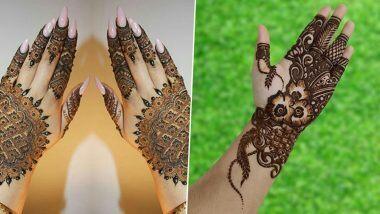 Hartalika Teej 2020 Mehndi Designs: हरतालिका तीज पर मेहंदी रचाकर अपने हाथों की खूबसूरती में लगाएं चार चांद, शिव-पार्वती पैटर्न के साथ लेटेस्ट अरबी डिजाइन्स के लिए देखें तस्वीरें और ट्यूटोरियल वीडियो