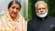 प्रधानमंत्री मोदी ने लता मंगेश्कर को जन्मदिन की बधाई दी