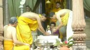 Krishna Janmashtami 2020: कान्हा के जन्मोत्सव पर वृंदावन के राधा-रमण मंदिर में किया गया श्रीकृष्ण का मंगल अभिषेक, देखें वीडियो