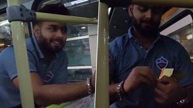 IPL 2020 से पहले Rishabh Pant बने टिकट कलेक्टर, साथी खिलाड़ियों के चेक किए टिकट, देखें मजेदार वीडियो