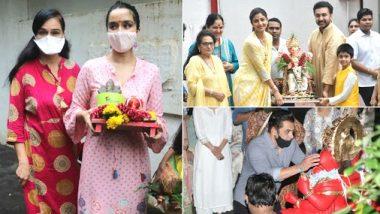 Ganesh Visarjan: सलमान खान, शिल्पा शेट्टी और श्रद्धा कपूर ने भी अपने घर पधारे बप्पा का धूमधाम से किया विसर्जन