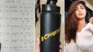 रिया चक्रवर्ती ने दिवंगत सुशांत सिंह राजपूत का शुक्रिया जताने वाला नोट साझा किया