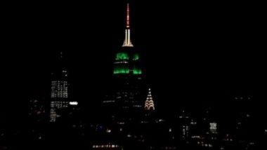 74th Independence Day: तिरंगे के रंग में रंगी नजर आई अमेरिका की एंपायर स्टेट बिल्डिंग, देखें तस्वीर
