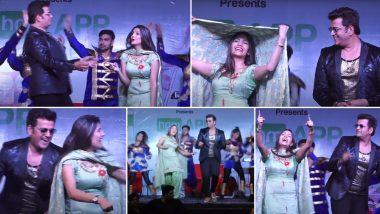 Sapna Choudhary-Ravi Kishan Hot Dance: हरयाणवी डांसर सपना चौधरी ने भोजपुरी स्टार किशन संगस्टेज पर लगाए ठुमके, हॉट वीडियो हुआ वायरल
