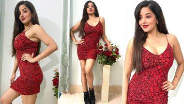 Bhojpuri Actress Monalisa Hot Photos: भोजपुरी अभिनेत्री मोनालिसा ने लाल ड्रेस में पोस्ट की बेहद हॉट फोटो, सेक्सी फिगर देखकर पिघला फैंस का दिल