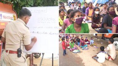 Karnataka: प्रवासी मजदूरों के बच्चों के लिए शिक्षा का जरिया बने बेंगलुरु के सब-इंस्पेक्टर शांतापा जाडम्मानवर, कोरोना महामारी में ऑनलाइन क्लासेस लेने में असमर्थ हैं ये बच्चे