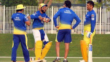 IPL 2020 Update: प्रैक्टिस के दौरान मस्ती करते हुए नजर आए चेन्नई सुपर किंग्स के खिलाड़ी, देखें तस्वीर