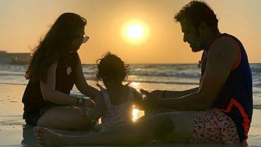 IPL 2020 Update: UAE में पत्नी रितिका सजदेह और बेटी समायरा के साथ बीच पर मस्ती करते हुए नजर आए मुंबई इंडियंस के कप्तान रोहित शर्मा, देखें तस्वीर