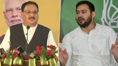 Bihar Assembly Election 2020: जेपी नड्डा ने किया आत्मनिर्भर बिहार अभियान का उद्घाटन, तेजस्वी यादव ने पलटवार करते हुए कहा- राज्य में बीजेपी 24 साल से अभी तक उधार के चेहरे पर निर्भर है
