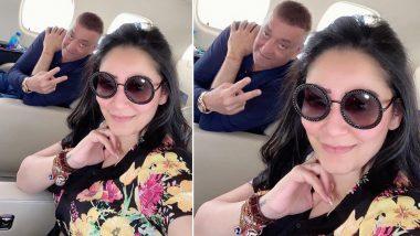 Sanjay Dutt: पत्नी मान्यता दत्त के साथ दुबई जा रहे संजय दत्त को एयरलाइन स्टाफ ने दिया ये खास तोहफा, देखें Photo